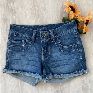 💙STS BLUE Cut Off Jean Shorts Mid -Rise Size  23